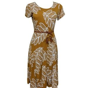 Women's Brown Embroidered Dress